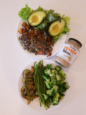Greens and quinoa